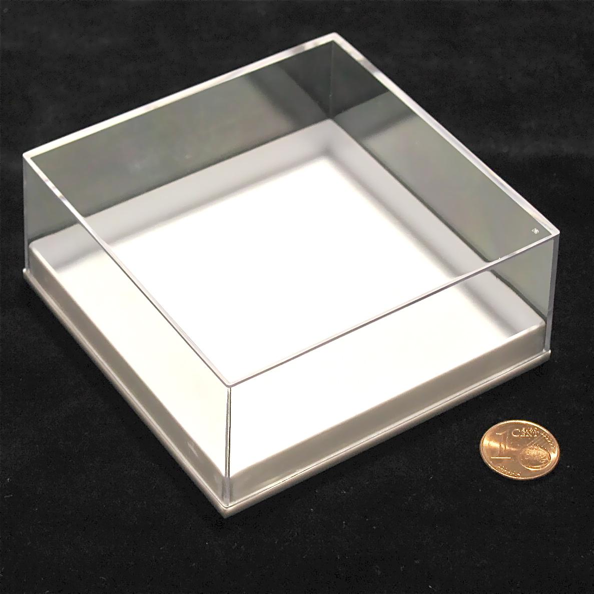 klarsichtdose 81x81x36mm wei er boden 4stk set. Black Bedroom Furniture Sets. Home Design Ideas