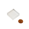 solid acrylic block 30x30x10mm/ socle en verre 6pcs/set