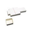 paper boxes / cartonnage blanc 63x63x25mm